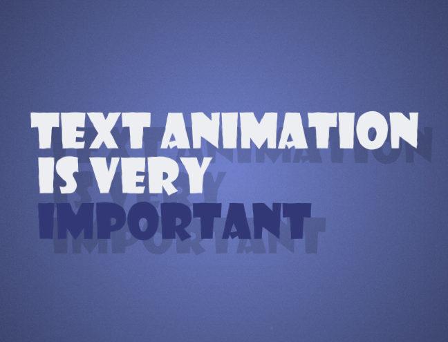 Текстова анімація