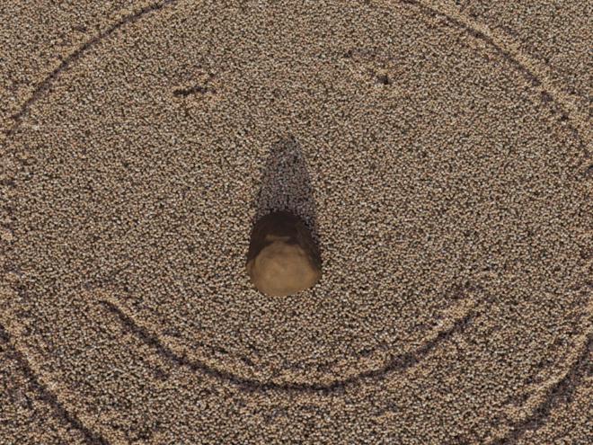 Перша спроба анімації піску.